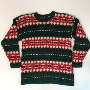 Abercrombie Fitch Mens Christmas Sweater SZ M